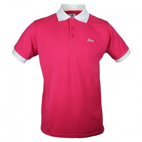 Męska Koszulka Polo - Hooy - Malinowa