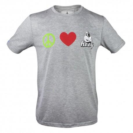 T-shirt Hooy - Peace and Love HOOY szara
