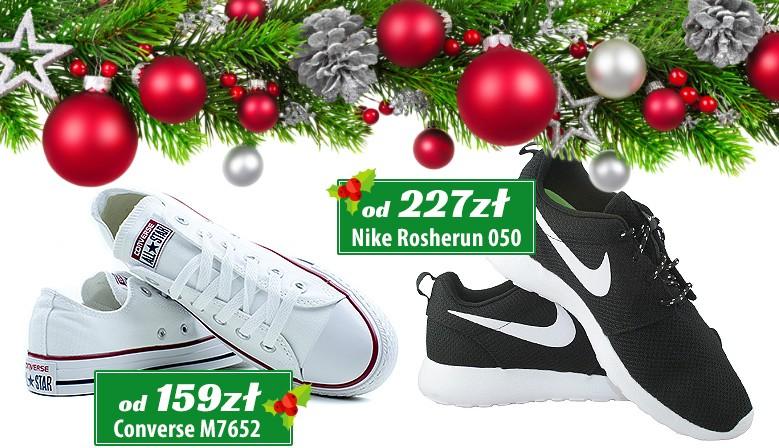 Świąteczne prezenty - obuwie sportowe Converse i Nike Rosherun - zawsze trafiony prezent