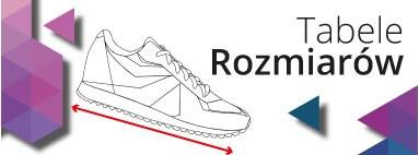 Tabele rozmiarów obuwia sportowego: Adidas, Nike, Reebok, Converse, Hooy