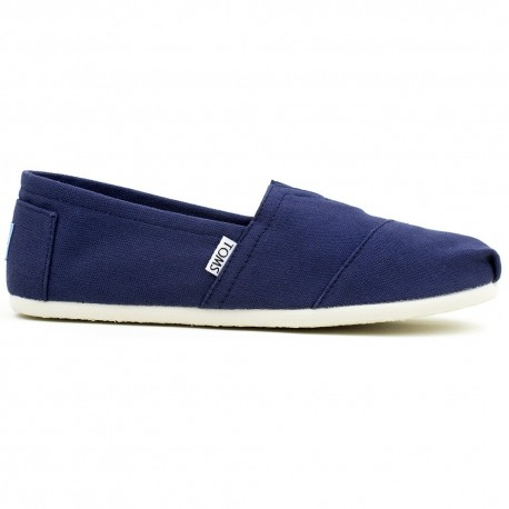 Półbuty Damskie Toms Navy Canvas