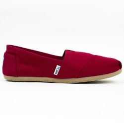 Półbuty Damskie Toms Red Canvas