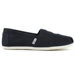 Półbuty Damskie Toms Black Canvas