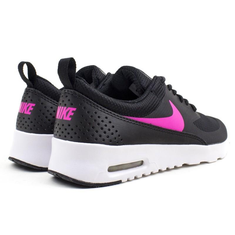 Najlepiej Pierwsze spojrzenie złapać Nike Air Max Thea GS 814444 001-czarne airmaxy damskie