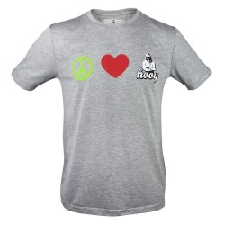 T-shirt Hooy - Peace and Love HOOY szara