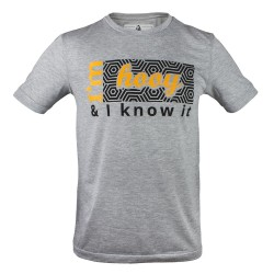 T-shirt Hooy - I'm Hooy and I know it szara