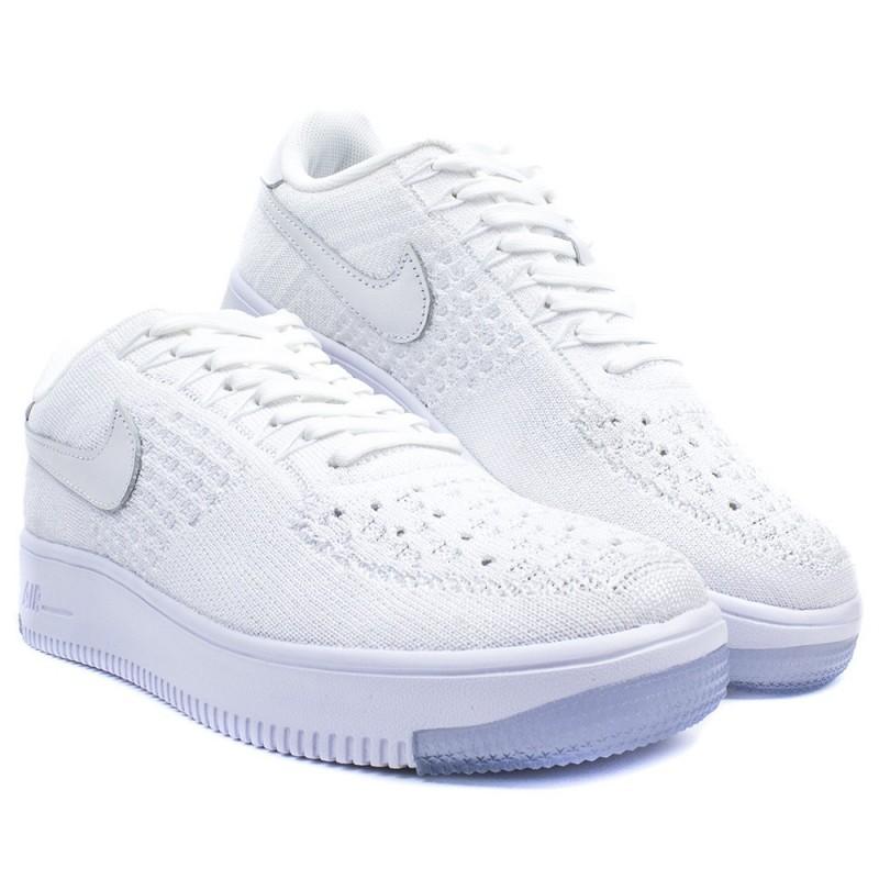 Nike Air Force 1 Flyknit Low damskie białe