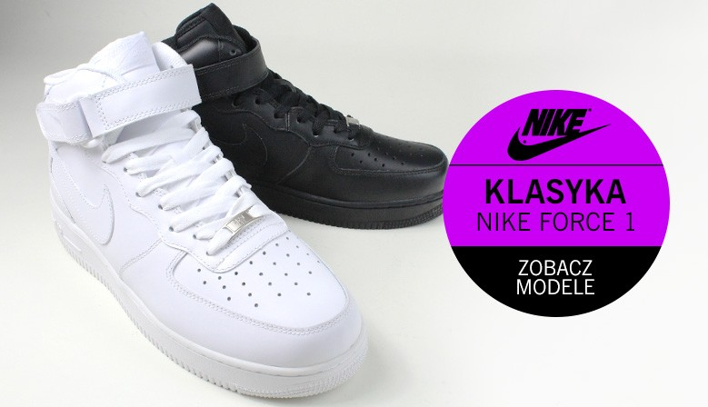 Nike Force1 - damskie i męskie buty sportowe